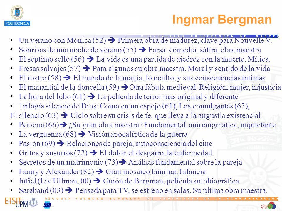 19 Ingmar Bergman. Un verano con Mónica (52)  Primera obra de madurez, clave para Nouvelle V.