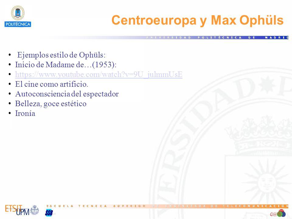 Centroeuropa y Max Ophüls