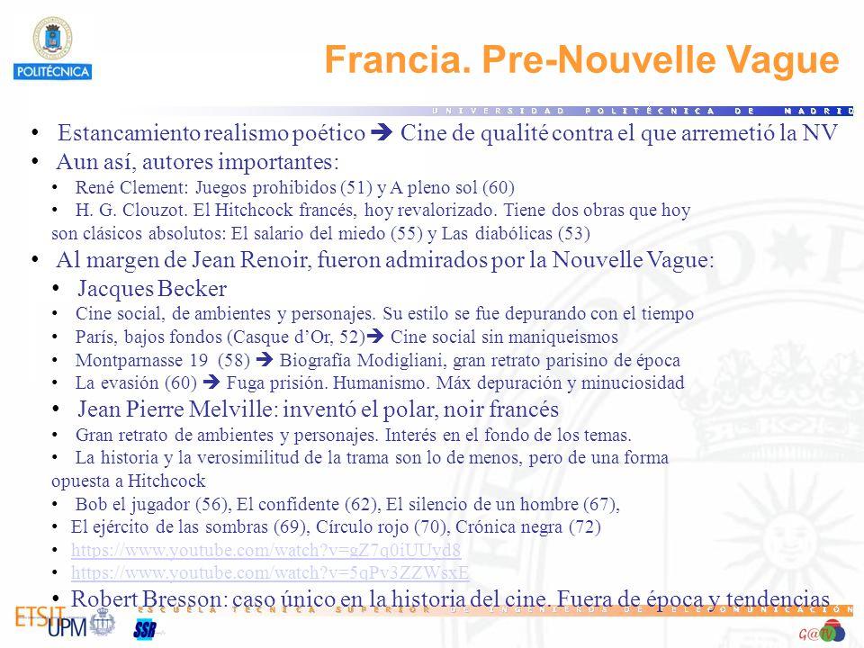 Francia. Pre-Nouvelle Vague