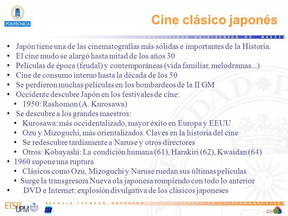 31 Cine clásico japonés. Japón tiene una de las cinematografías más sólidas e importantes de la Historia.