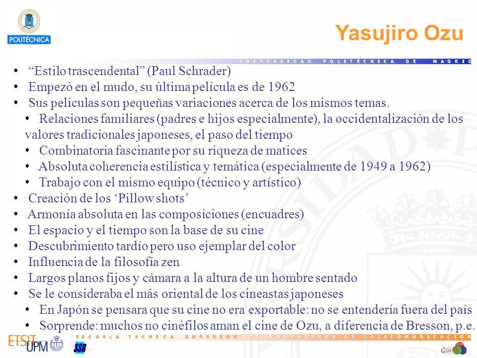 Yasujiro Ozu Estilo trascendental (Paul Schrader)