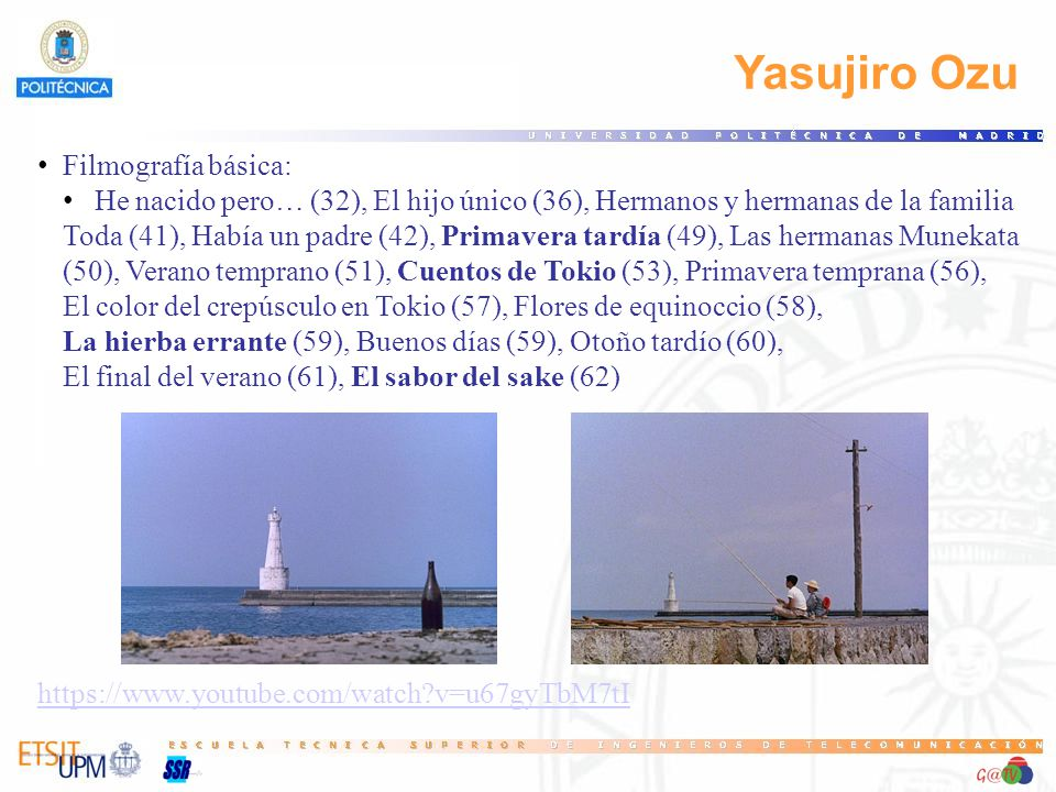 Yasujiro Ozu Filmografía básica: