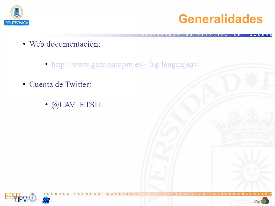 Generalidades Web documentación: