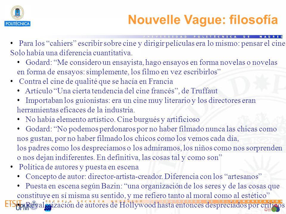 Nouvelle Vague: filosofía