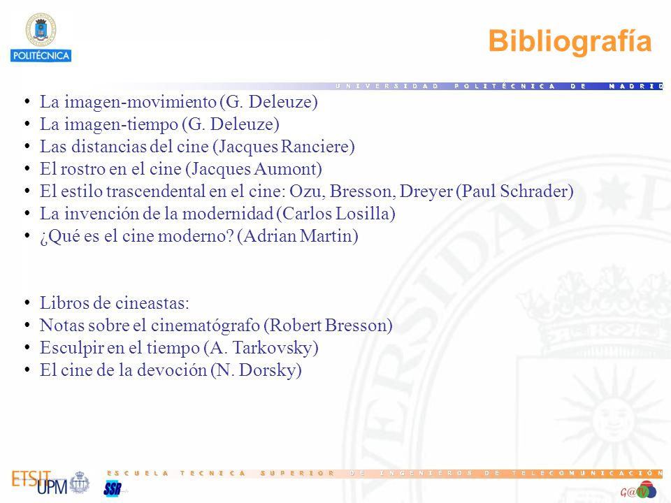 Bibliografía La imagen-movimiento (G. Deleuze)