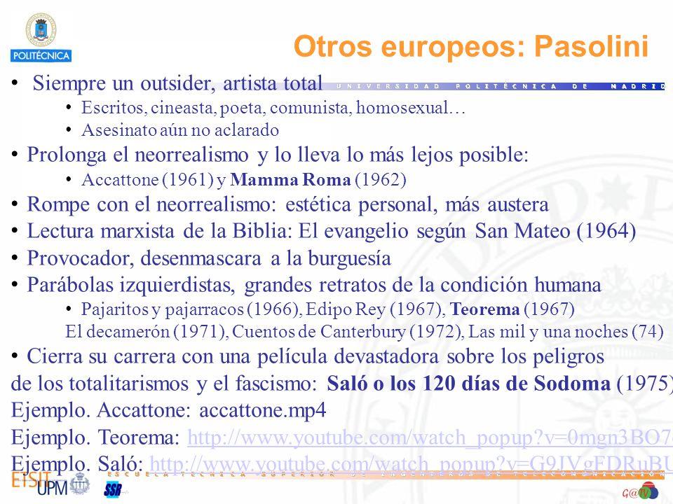 Otros europeos: Pasolini