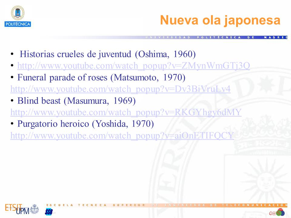 Nueva ola japonesa Historias crueles de juventud (Oshima, 1960)
