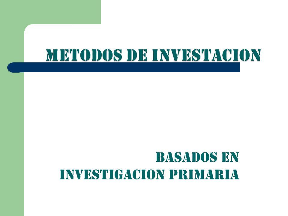 METODOS DE INVESTACION