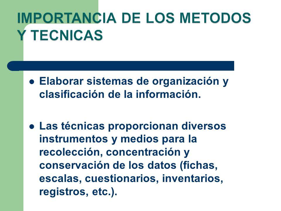IMPORTANCIA DE LOS METODOS Y TECNICAS