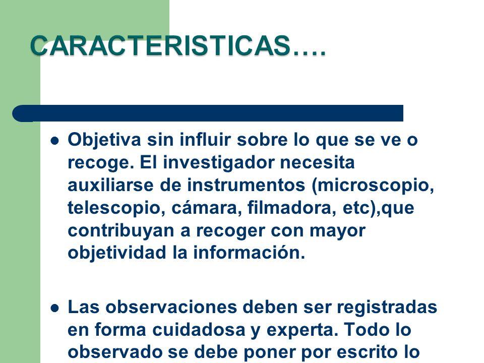 CARACTERISTICAS….