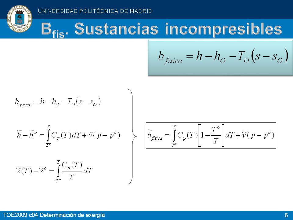 Bfis. Sustancias incompresibles
