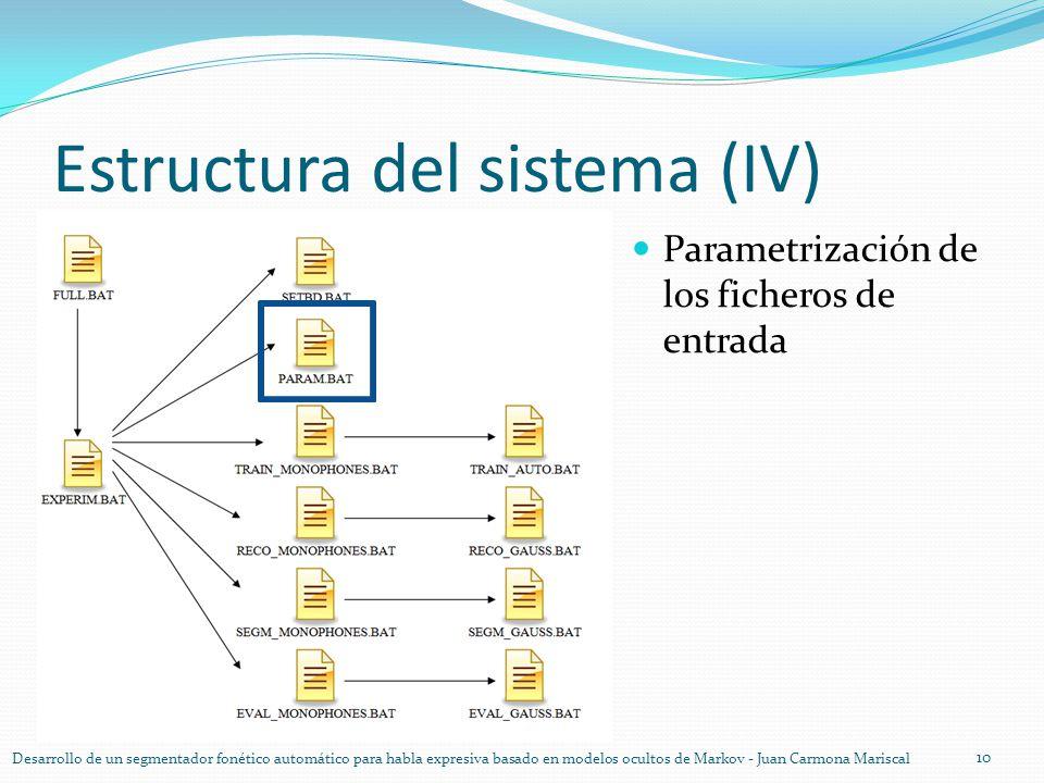 Estructura del sistema (IV)