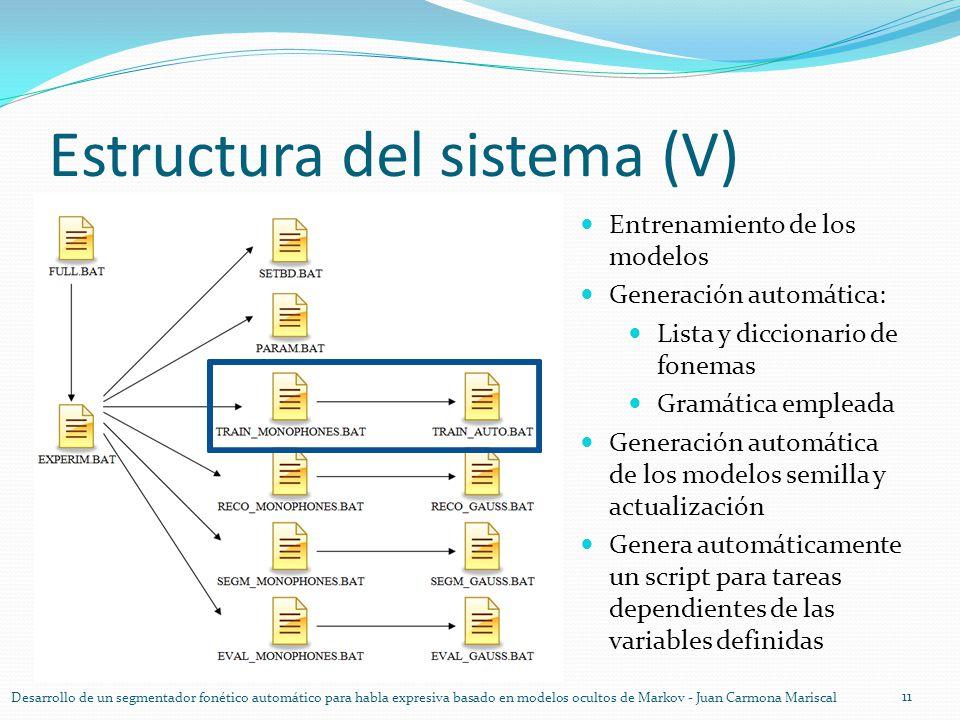Estructura del sistema (V)