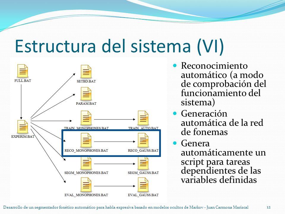 Estructura del sistema (VI)