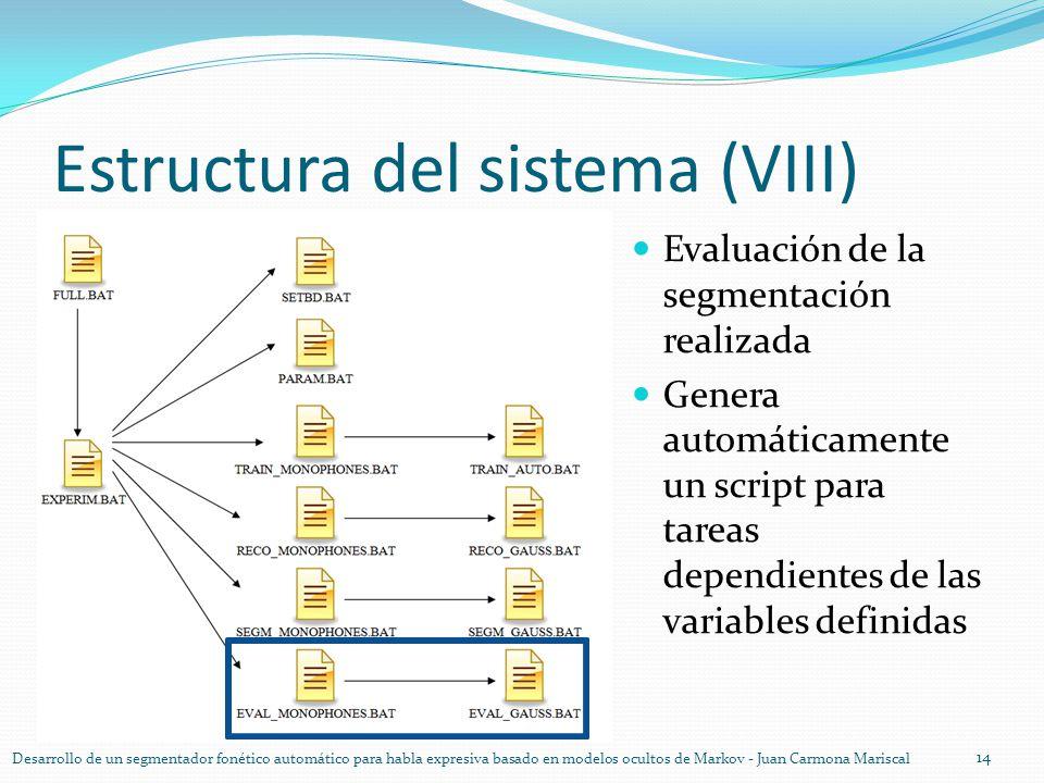 Estructura del sistema (VIII)