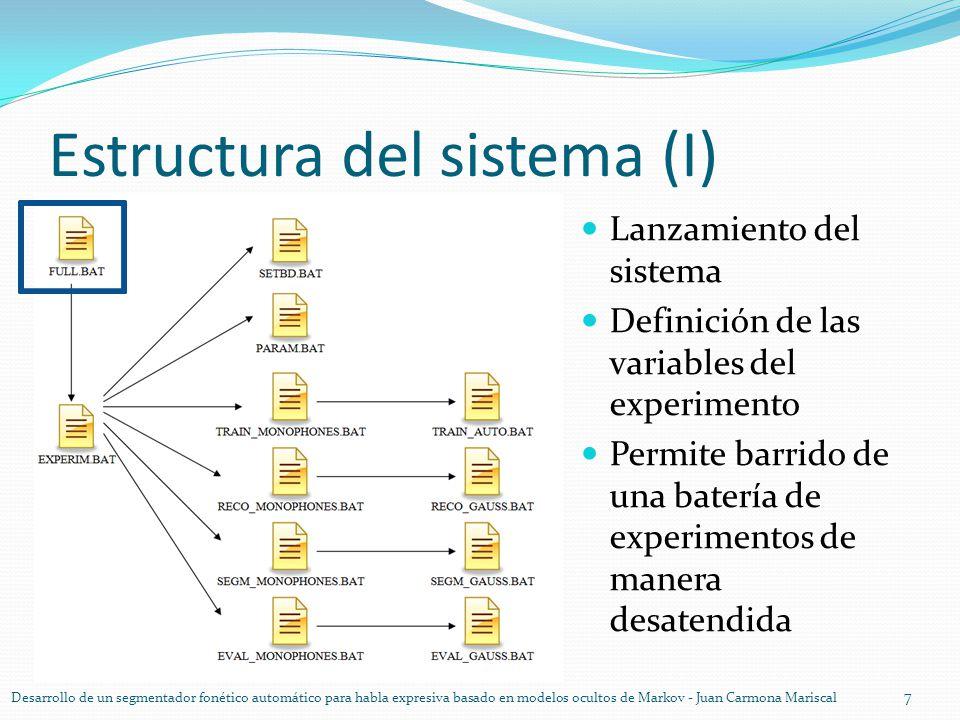 Estructura del sistema (I)