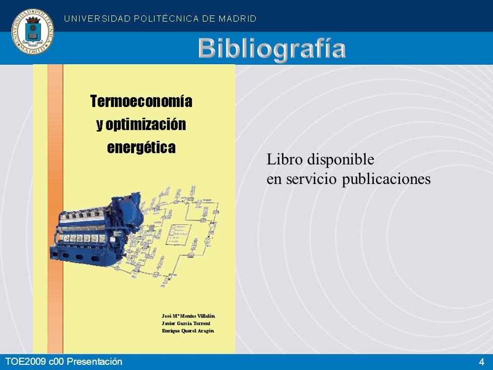 Bibliografía Libro disponible en servicio publicaciones