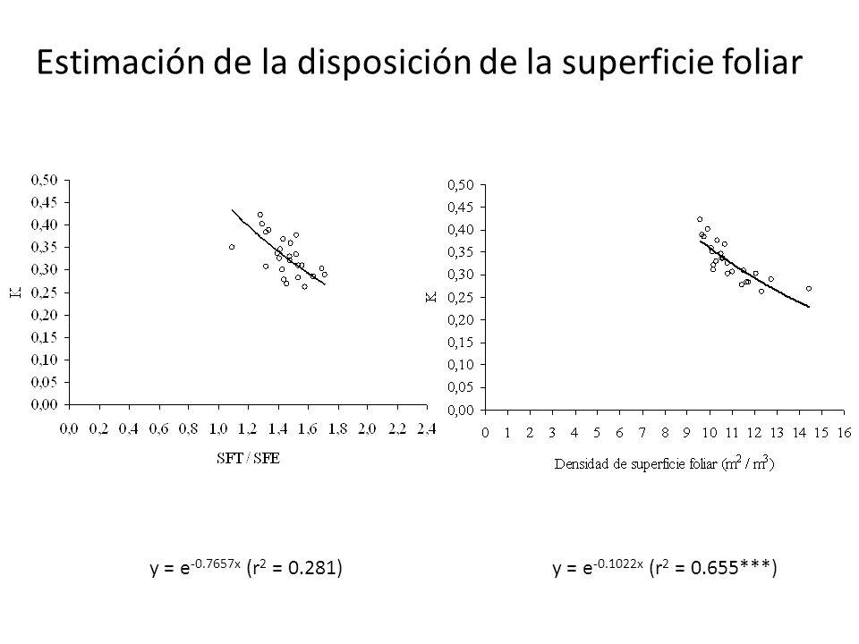 Estimación de la disposición de la superficie foliar