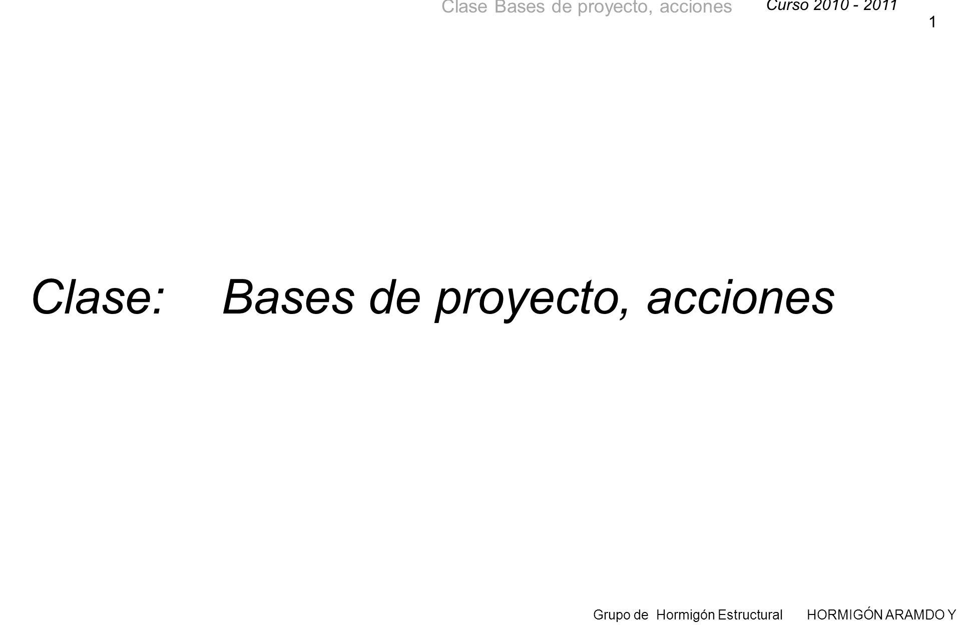 Clase: Bases de proyecto, acciones
