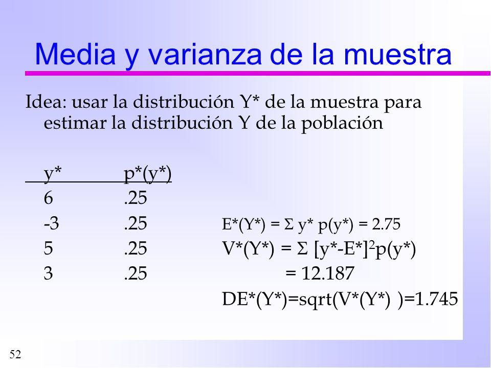 Media y varianza de la muestra