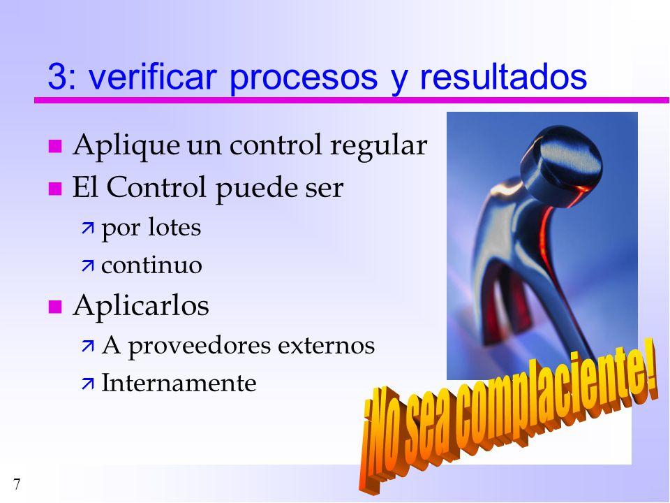 3: verificar procesos y resultados
