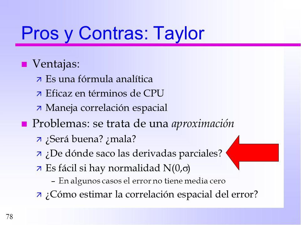 Pros y Contras: Taylor Ventajas: