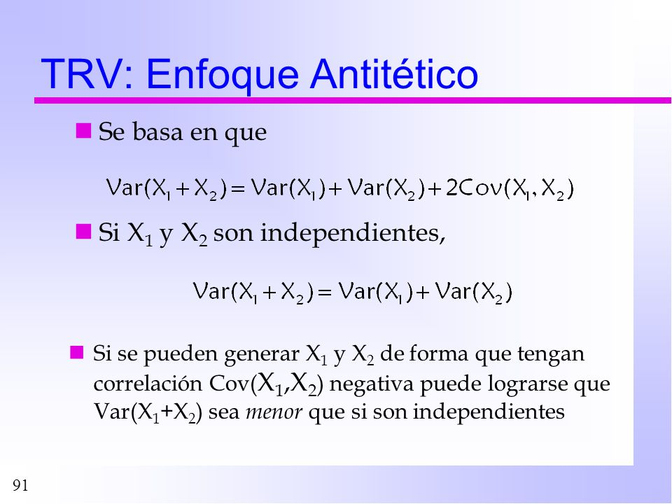 TRV: Enfoque Antitético