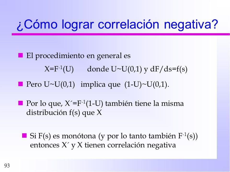 ¿Cómo lograr correlación negativa