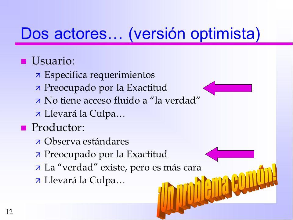 Dos actores… (versión optimista)
