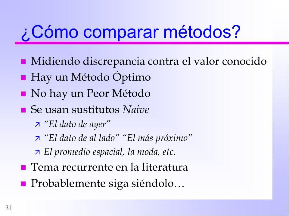 ¿Cómo comparar métodos