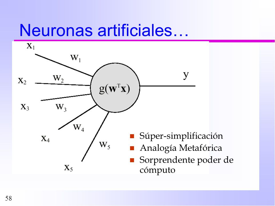 Neuronas artificiales…