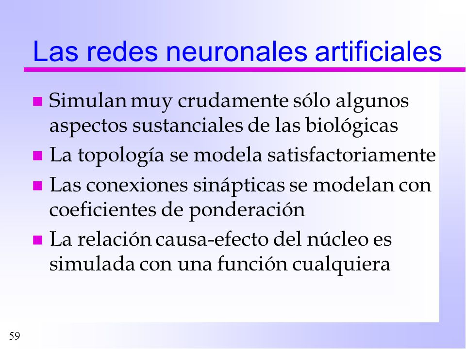 Las redes neuronales artificiales