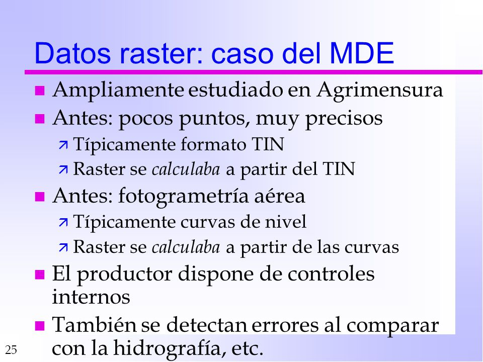 Datos raster: caso del MDE