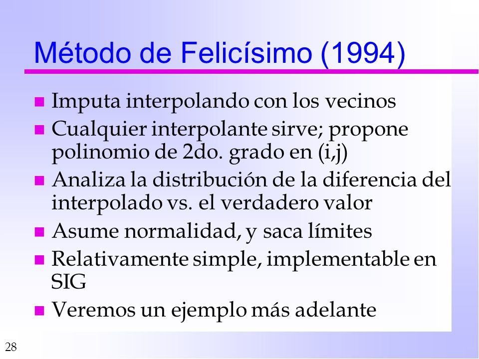 Método de Felicísimo (1994)