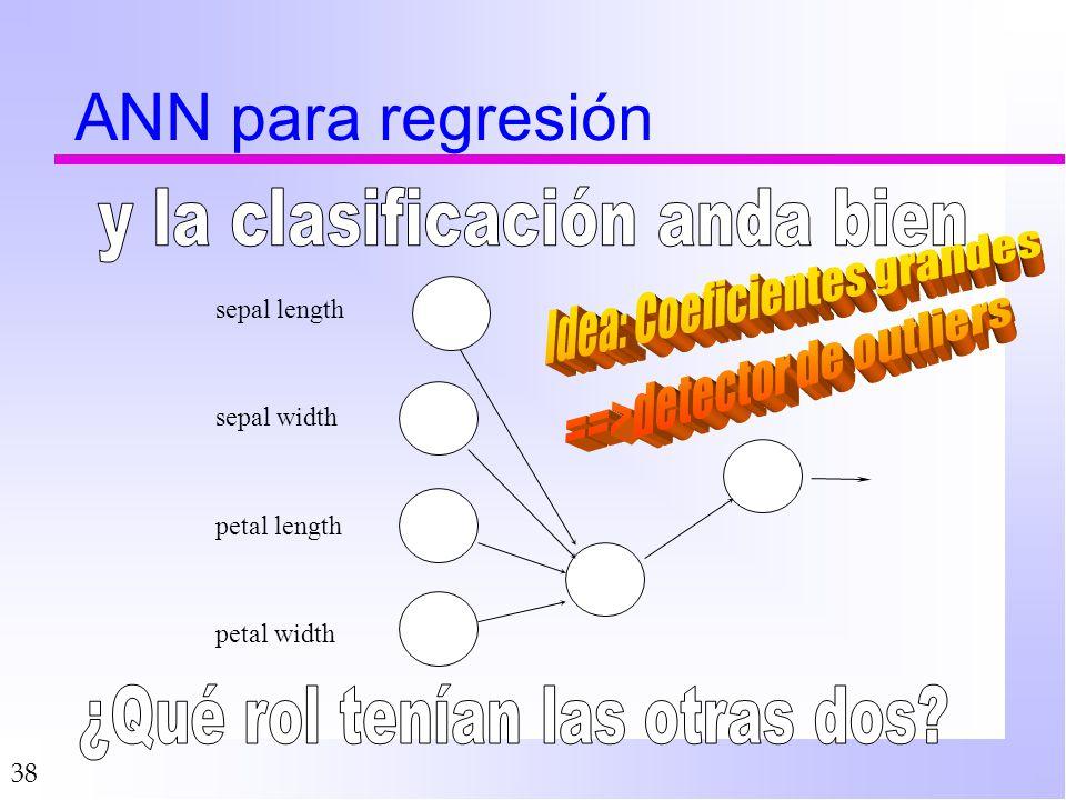 ANN para regresión y la clasificación anda bien