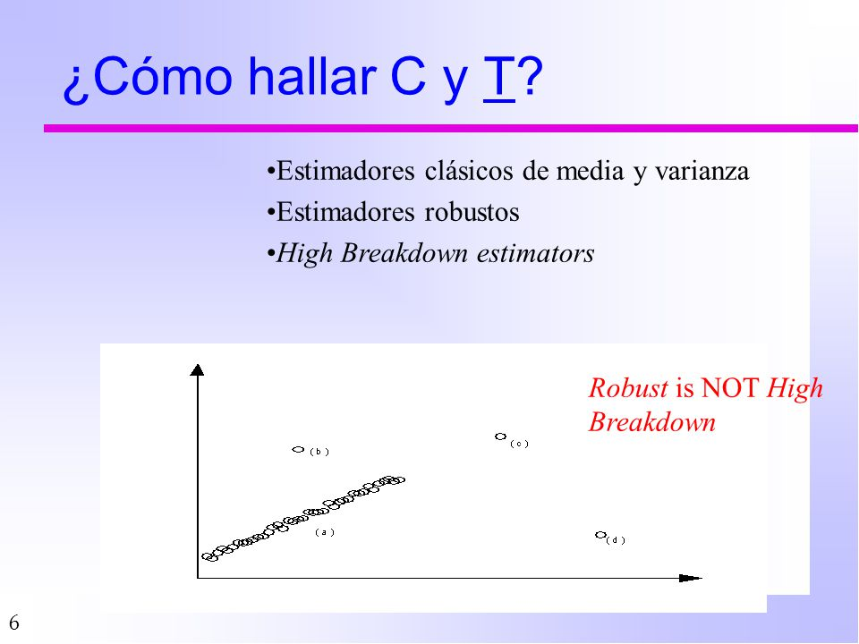 ¿Cómo hallar C y T Estimadores clásicos de media y varianza
