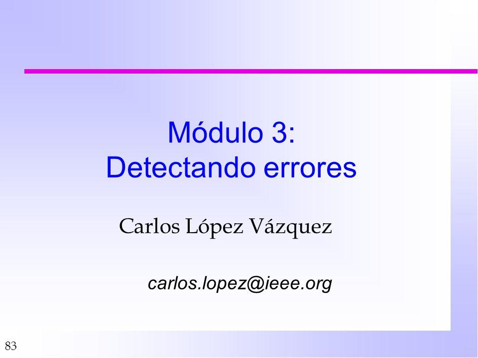 Módulo 3: Detectando errores