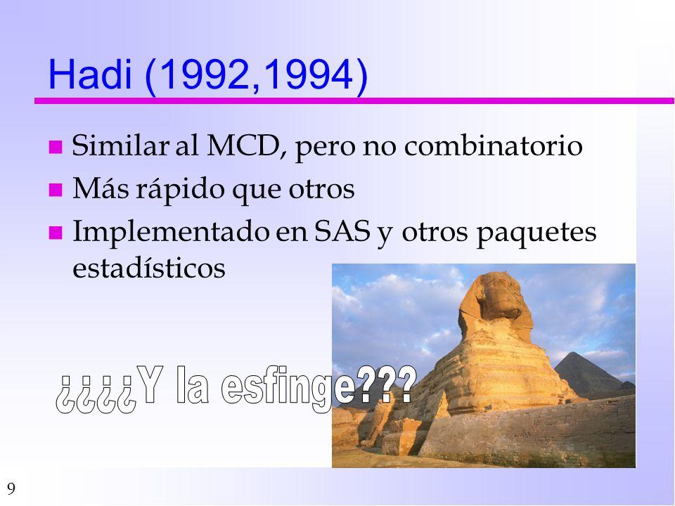 Hadi (1992,1994) ¿¿¿¿Y la esfinge