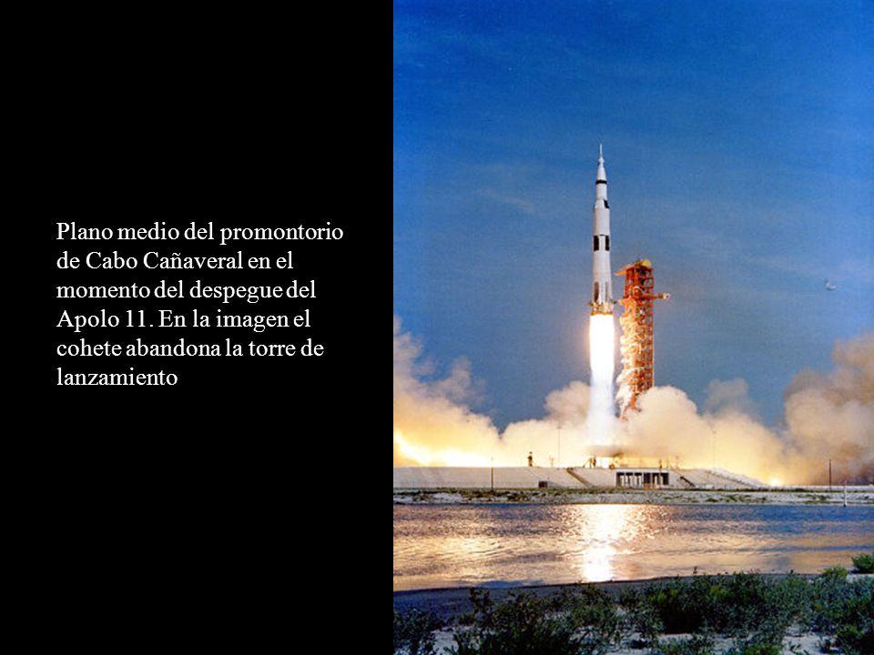 Plano medio del promontorio de Cabo Cañaveral en el momento del despegue del Apolo 11.
