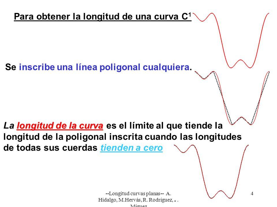 Para obtener la longitud de una curva C1