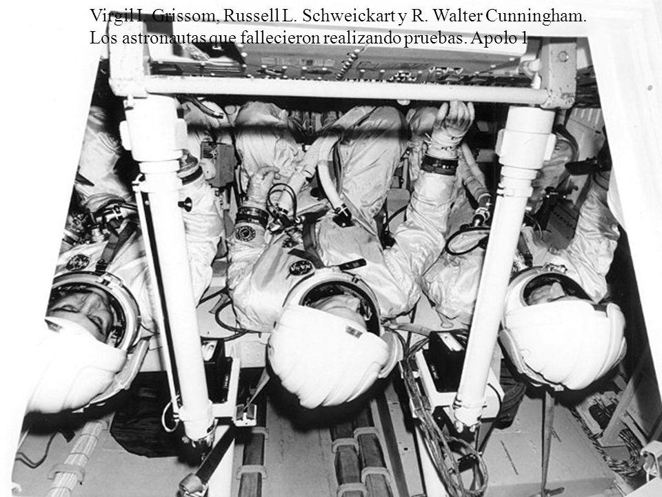 Virgil I. Grissom, Russell L. Schweickart y R. Walter Cunningham