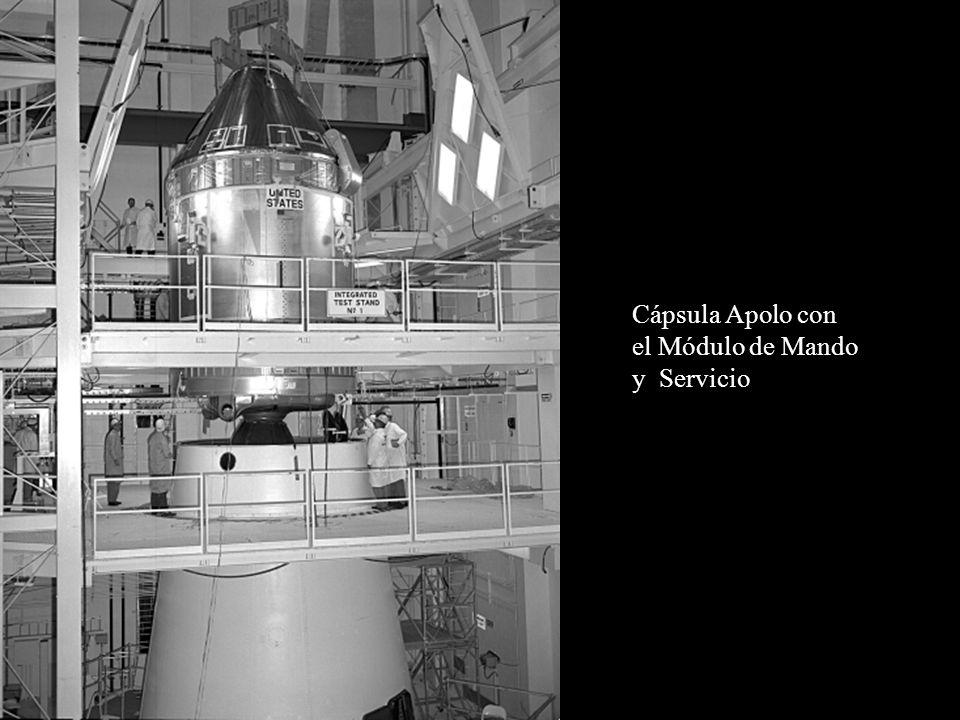 Cápsula Apolo con el Módulo de Mando y Servicio