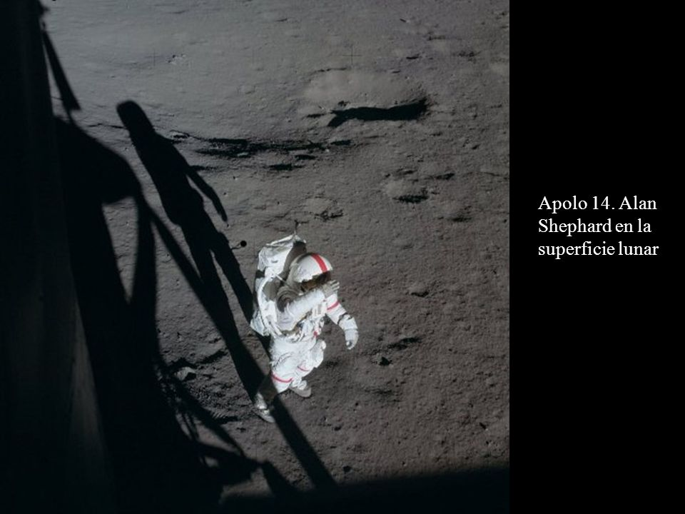 Apolo 14. Alan Shephard en la superficie lunar