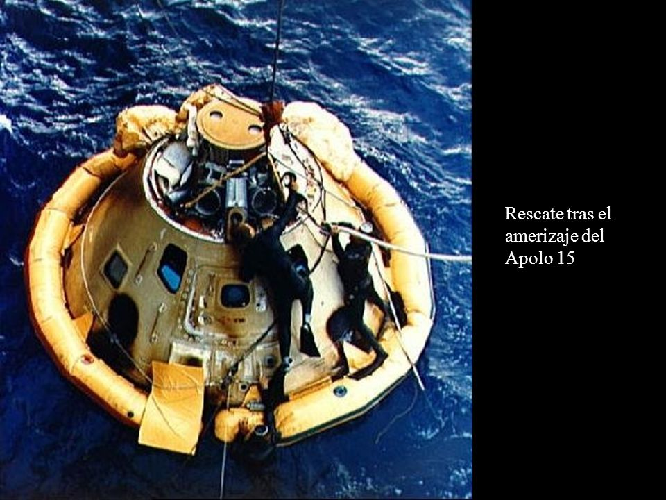 Rescate tras el amerizaje del Apolo 15