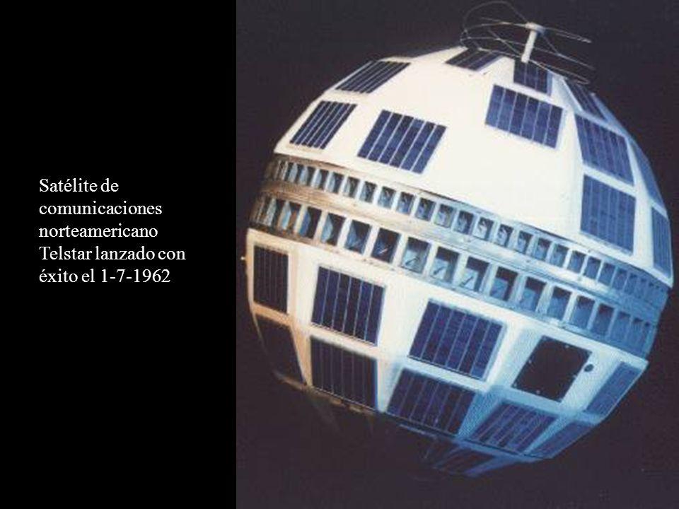 Satélite de comunicaciones norteamericano Telstar lanzado con éxito el 1-7-1962