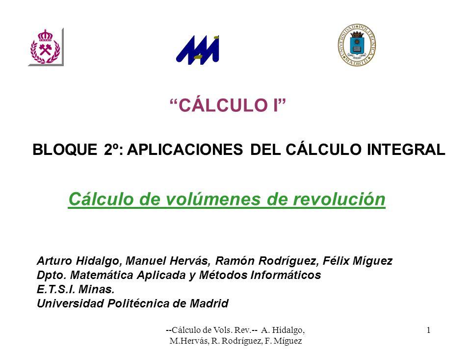 Cálculo de volúmenes de revolución