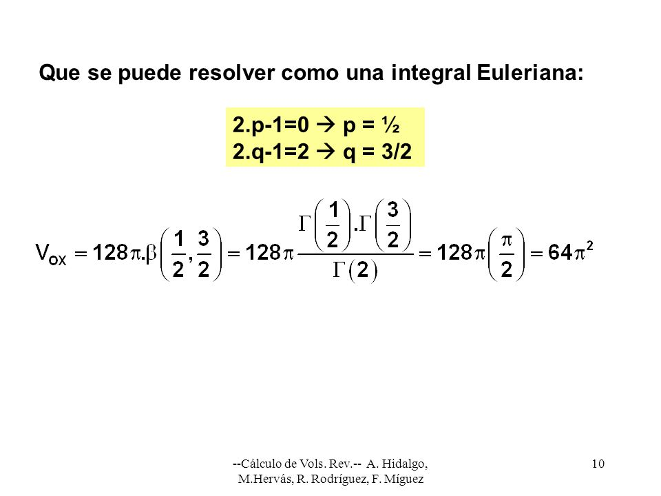 Que se puede resolver como una integral Euleriana: