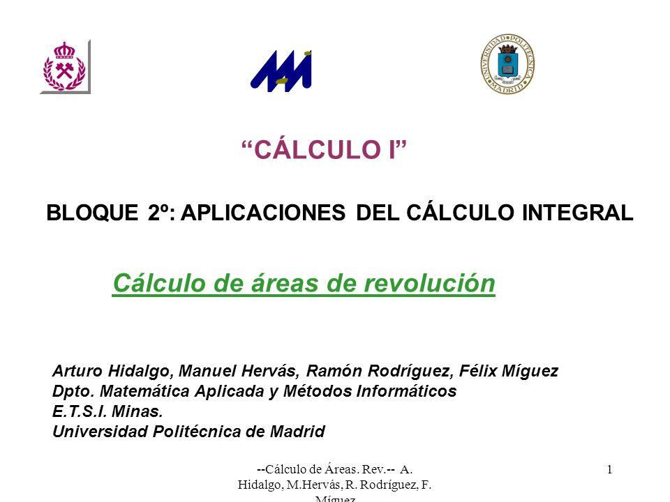 Cálculo de áreas de revolución