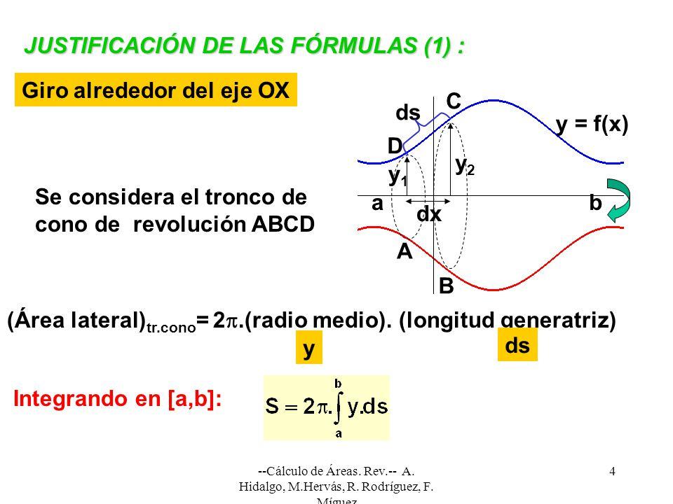 JUSTIFICACIÓN DE LAS FÓRMULAS (1) :