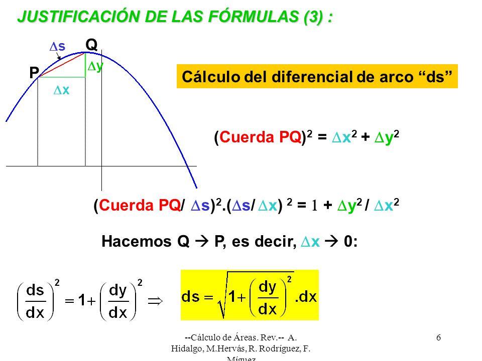 JUSTIFICACIÓN DE LAS FÓRMULAS (3) :